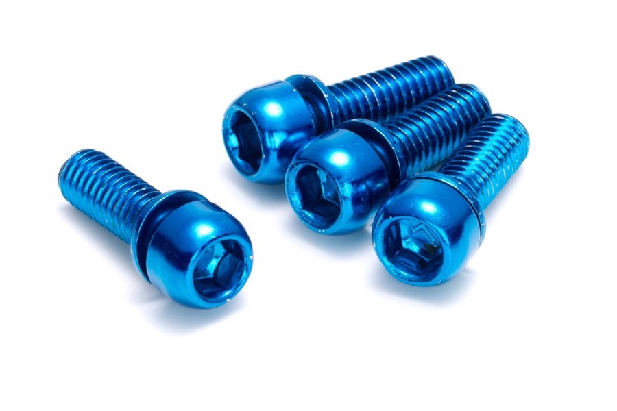 12 Reverse Screws for Disc Adapter Mounting blue
